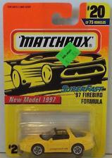MATCHBOX 97 FIREBIRD FORMULA #20 YELLOW T TOP SUPERFAST NRFP