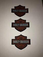 3 x Harley Davidson Patch Aufnäher Skull Biker Motorrad Patches Set Aufbügler
