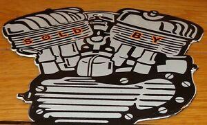 """VINTAGE 1941 """"INDIAN MOTORCYCLES ENGINE""""  9"""" PORCELAIN METAL GASOLINE & OIL SIGN"""