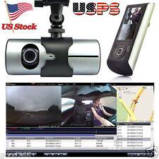 """2.7"""" 1080P Car Dvr Camera Video Recorder Vehicle Gps Dual Lens Dash Cam G-Sensor"""