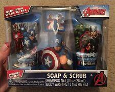 Marvel Avengers Soap & Scrub Bath Gift Set