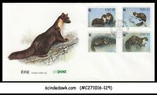 IRELAND - 1992 WWF / ENDANGERED SPECIES Pine Marten / ANIMALS - 4V FDC