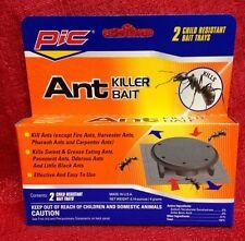 Pic Ant killer Bait Trap includes 2 child resistant bait Trays Safe & Effective