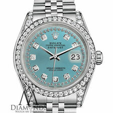 Ladies Rolex 31mm Datejust Ice Blue Color Diamond Dial Jubilee Bracelet Watch