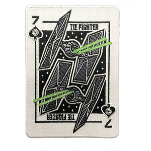 Star Wars Tie Fighter Playing Card Patch, 7 of Spades, Limited Ed Series