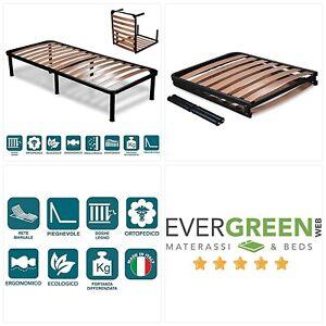 "EVERGREENWEB Small Single Folding Bed Frame 2'6"" x 6'3"" Size 75x190cm UK SELLER"