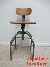 Vintage Bevco Industrial Medium Counter Swivel Bar Stool Chair