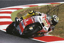 Andrea Iannone mano firmato PRAMAC RACING DUCATI 12x8 Foto Motogp Crazy Joe 11.