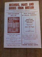 Vintage 1965 British 'Pop Shop' Catalog for Music, Books  - Rolling Stones - EXC