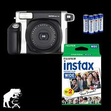 Instant Camera Fuji Instax Wide 300 with Macro Header, 20 Photos and Batteries