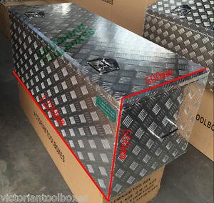 1220x500x500 mm Heavy duty Aluminium Toolbox Top Open Ute Trailer Truck Tool box