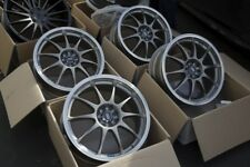 18x7.5 Enkei J10 4X100/108 +42 Silver Rims Fits Integra Civic Miata Focus (Used)