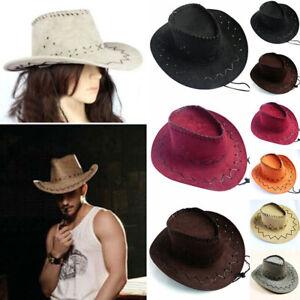 Men Lady Cowboy Hat West Fancy Dress Suede Fashion Unisex Cap