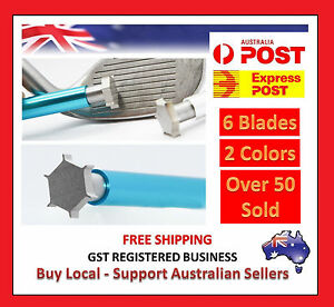6 ENDED - Golf Club Iron Wedge Groove Groover Sharpener Groove Cleaner