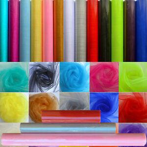 Multi Size Cheer Organza Fabric Tulle Roll DIY Party Wedding Chair Sash Decor AU