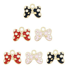 Multi-Color Tone 30pcs//lot Bow Tie Bow-Knot Alloy Charms Pendants Findings 53033