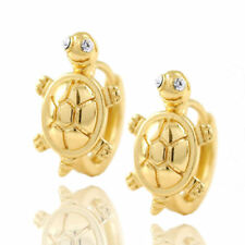 Cute womens girls child kids Tortoise gold filled small hoop earrings wholesale