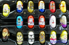 Mighty Beanz Lot of 17 Mixed T-Rex Captian America Skrull Anakin Clone Trooper +