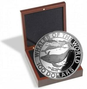 Silver Coins Bahamas Wale, Whales of The World, Buckelwale 2.2lbs 1995, Proof