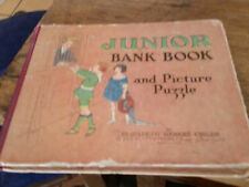 Junior Bank Book and Picture Puzzle Hardcover 1929 Thrift Bank Book Childs