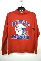 Vintage Trench Boys Red New England Patriots Crew Neck Long Sleeve T-Shirt M