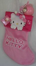 Hello Kitty CHRISTMAS STOCKING LIGHT PINK & BALL ORNAMENT FREE SHIPPING NWT