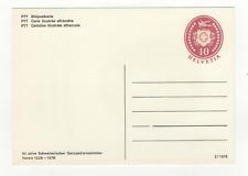 Suisse Helvetia entier postal non oblitéré sur carte postale1976 / L481