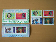 Tanzania Queen Mothers 85Th Birthday.2 M/Sheets+4 Vals,U/Mint.