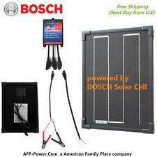 Bosch BLACK Plug-Power 10W 10 Watt Mono Solar Cell Panel Kit 12v Battery RV Boat