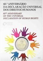 Portugal 2 Euro 2008 Menschenrechte Stempelglanz in CoinCard