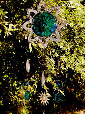 New listing Wind Chime, Sun Catcher, Sunflower, stained glass look,