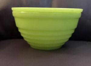 Vintage RARE Jeannette Beehive Jadeite/Skokie Green Grease/Drippings Jar w/Lid