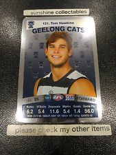 2010 AFL TEAMCOACH SILVER CARD NO.121 TOM HAWKINS GEELONG