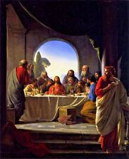 Jesus Christ The Last Supper Christian Painting 8x10 Real Canvas Art Print