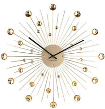 Karlsson Sunburst Large Wall Clock - Gold