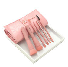 Makeup Brush Set With Bag Double Head Blush Foundation Lip Cosmetic Brushes Pink