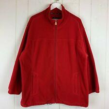 Catalina 4 Season Fleece Coat Womens Plus 2X 20W/22W Red Jacket Full Zip Pocket