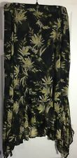 NEW CATHERINES WOMEN GEORGETTE SKIRT PLUS SIZE 5XL PEASANT BOHO FLORAL PRINTS