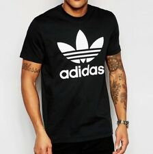adidas Originals T-shirt Trefoil Logo Black Medium Td087 LL 20