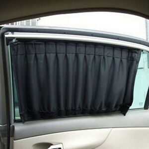 2PCS Black Car Accessories Auto Sun Shade Side Window Curtain UV Protection