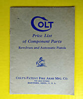 Vintage Ca 1932 Colt Patent Fire Arms Mfg. Price List Revolvers Catalog Guns Old