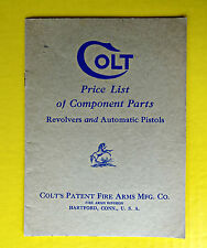 Vintage ca 1932 Colt Fire Arms Parts Price List Catalog Revolvers Pistols Old