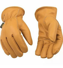 Kinco Mens Work Gloves Lined Buffalo Leather Warm Winter Thermal Size Medium
