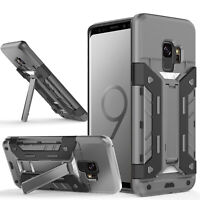 Hybrid Armor Shockproof Rugged Bumper Case For Samsung S6 S7 Edge S8 Note S9 S10