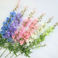 3 x Artificial Veronica Amelia Stem Realistic Cream Lilac Faux Silk Wild Flower