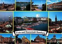 Freie und Hansestadt Hamburg , Ansichtskarte gelaufen