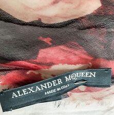 ALEXANDER McQUEEN Raro Bufanda Lee última colección de la línea principal £ 300