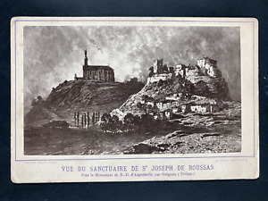 France, Roussas, Vue du Sanctuaire de Saint Joseph de Roussas Vintage print. Car