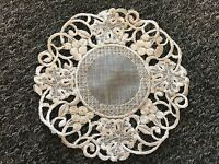 12 Pieces Embroidery Organza Doily Doilies Placemat White Wedding Bridal Party
