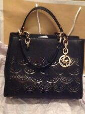 MICHAEL KORS Sofia 35F8GO5T6L Black MD NS TOTE LEATHER